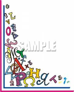 Abc clipart kid. Alphabet border clip art