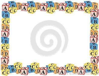 Alphabet border clip art. Clipart kid blocks vector