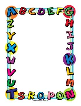 Alphabet border clip art. Frame clipart clipartfest borders