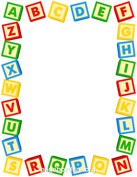 Alphabet border clip art. Free page borders and