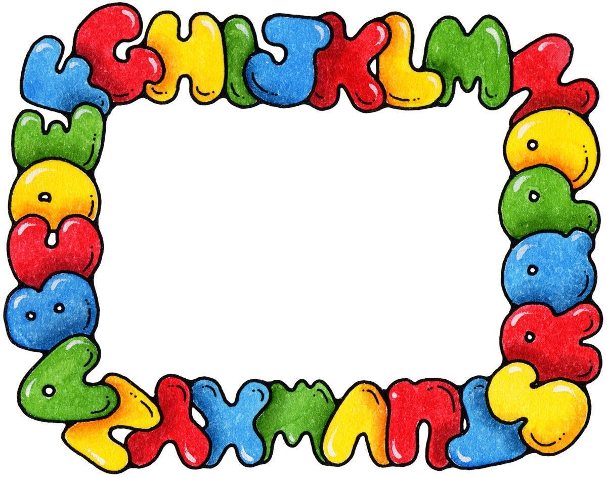 Alphabet border clip art. Frame clipart clipartfest free