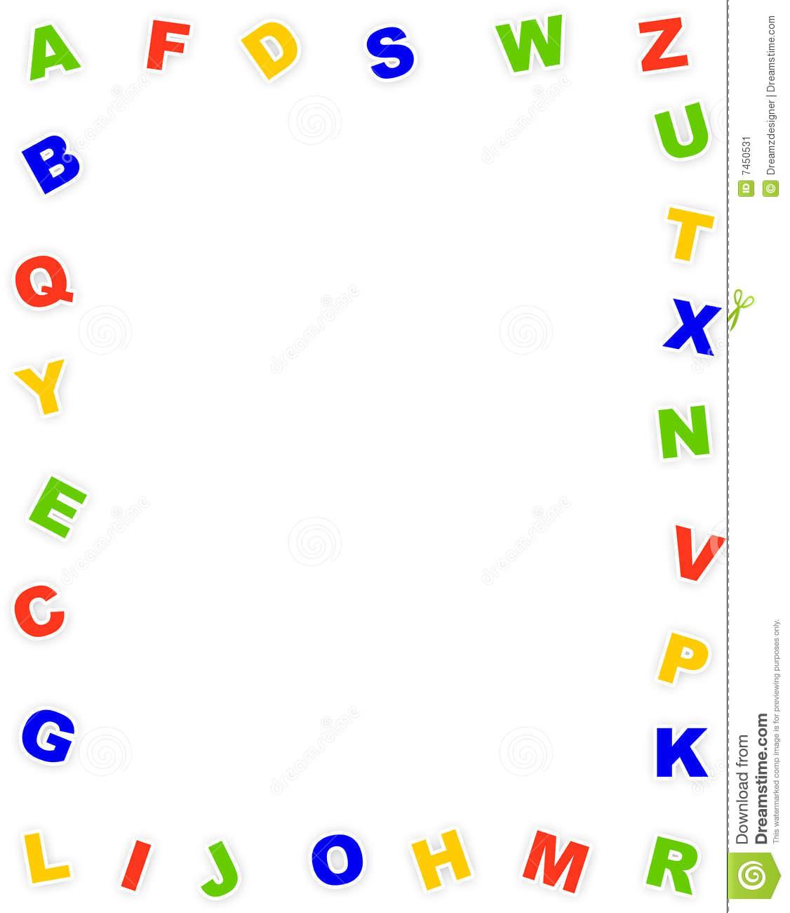 Alphabet border clipart clip transparent library Alphabet Border Clipart - Clipart Kid clip transparent library