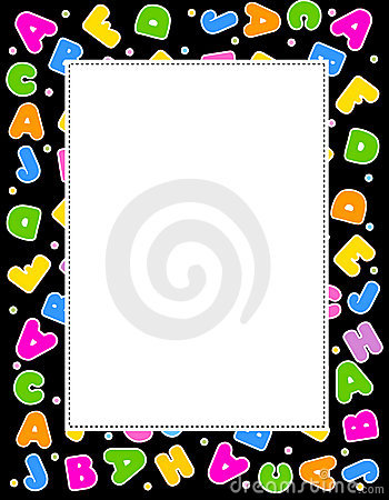 Alphabet border clipart png royalty free download Alphabet frame clipart - ClipartFest png royalty free download