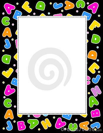 Frame clipartfest stock photos. Alphabet border clipart