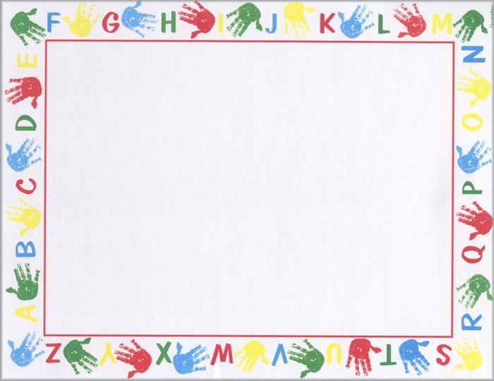 Alphabet border clipart. School clip art borders