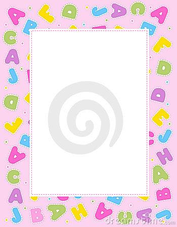 Alphabet border clipart. Stock photos image