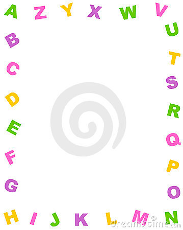 Alphabet border clipart graphic freeuse Alphabet Border Stock Photos - Image: 69483 graphic freeuse