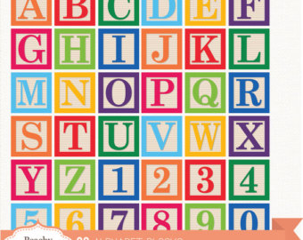 Block letters clipartfest clip. Alphabet building blocks clipart