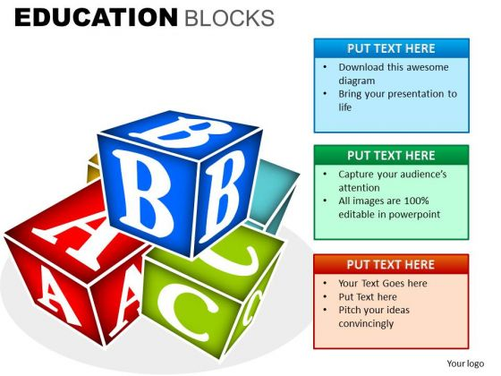 With alphabets powerpoint slides. Alphabet building blocks clipart