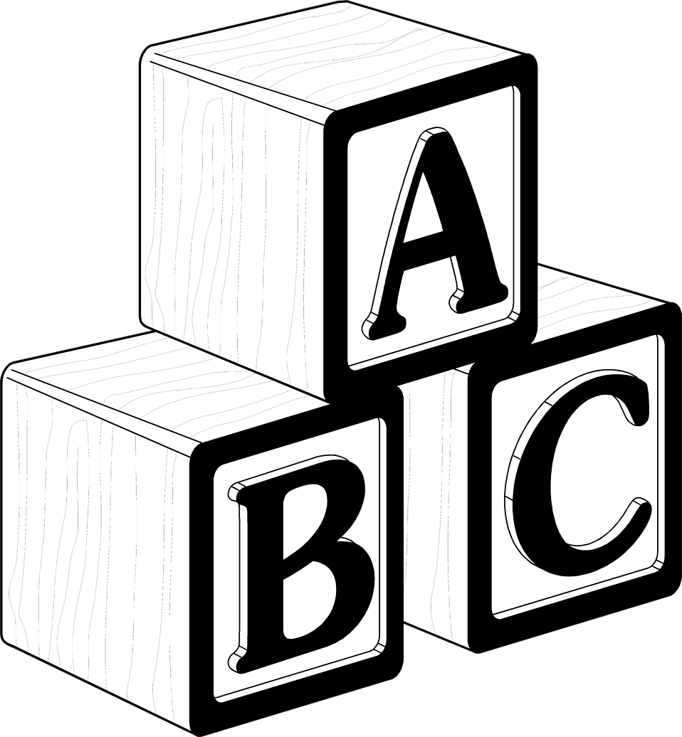 Alphabet building blocks clipart clip black and white stock Letter p in building blocks clipart - ClipartFox clip black and white stock