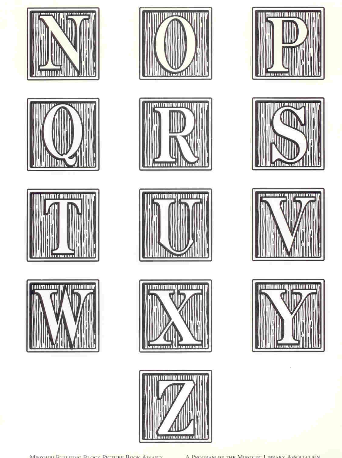 Alphabet building blocks clipart. Block award missouri library