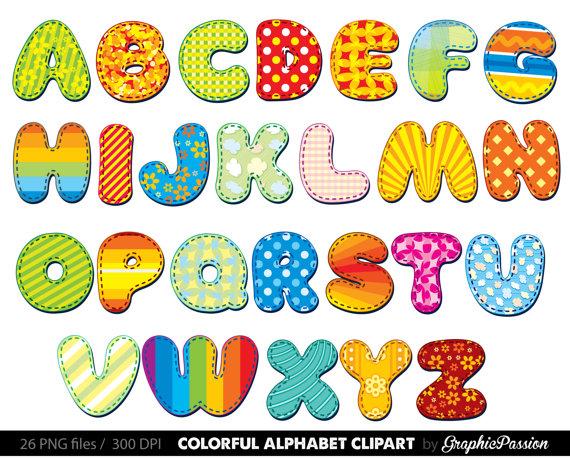 Alphabet clip art banner black and white Alphabet clipart color alphabet Digital alphabet letters banner black and white
