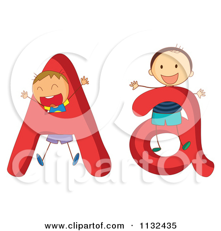 Cartoon Of Alphabet Kids And Letters A - Royalty Free Vector ... graphic library