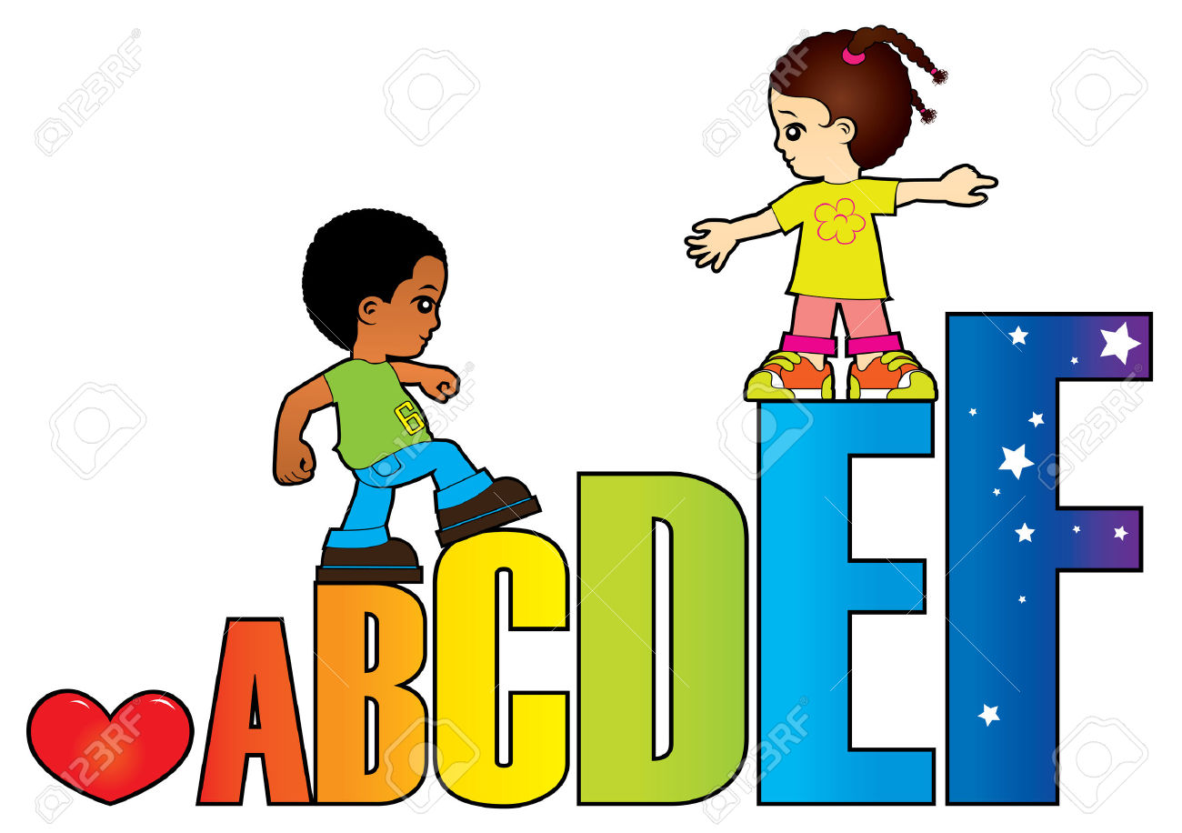 Alphabet clipart for kids banner freeuse Clipart alphabet letters for kids - ClipartFest banner freeuse