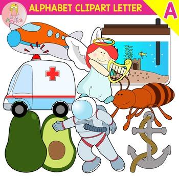 Alphabet clipart for teachers jpg black and white library Alphabet Clip Art Letter A-Set jpg black and white library