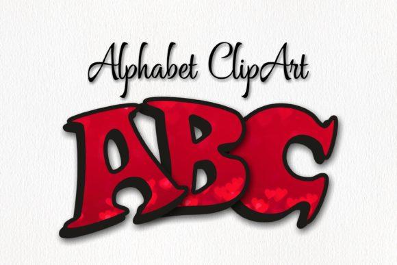 Alphabet clipart graphics clipart transparent stock Red Hearts Alphabet ClipArt clipart transparent stock