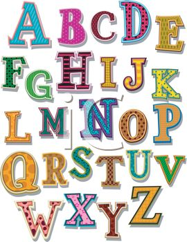 Alphabet clipart letters free free library Clipart letters of the alphabet free - ClipartFest free library