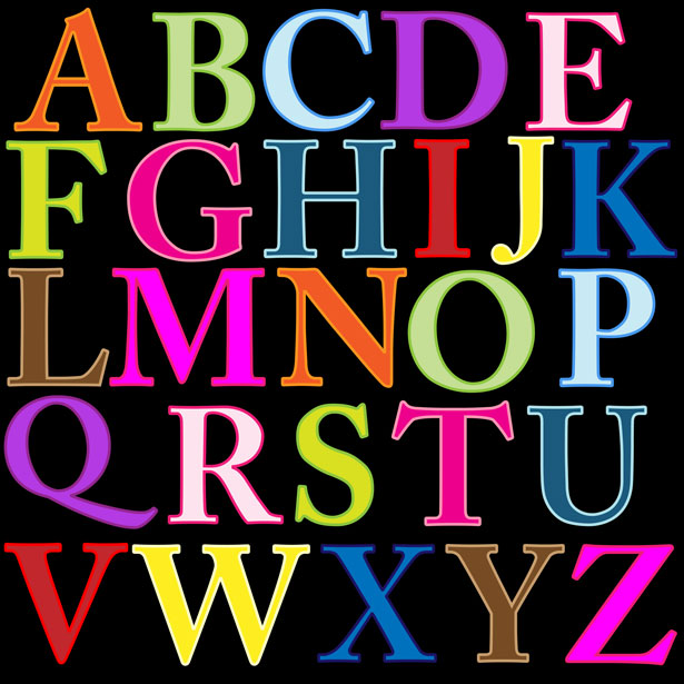 Individual Alphabet Letters Clipart - Clipart Kid jpg royalty free stock