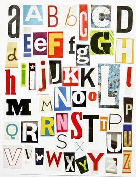 Alphabet clipart nancy drew image library library Printable Magazine Letters Alphabet A-Z: Word Work, Spelling ... image library library