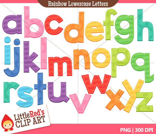 Lowercase clipartfest rainbow letters. Alphabet clipart png