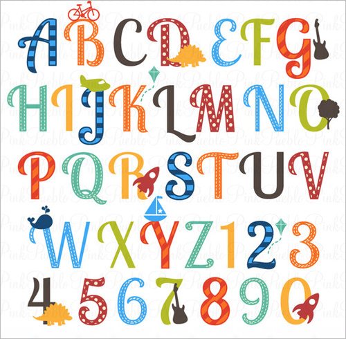 20+ Nursery Alphabet Letters - AI, Vector EPS, PNG, JPEG Format ... banner library stock