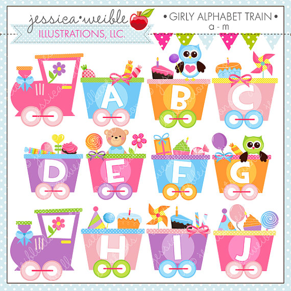 Cute clipart clipartfest girly. Alphabet cliparts