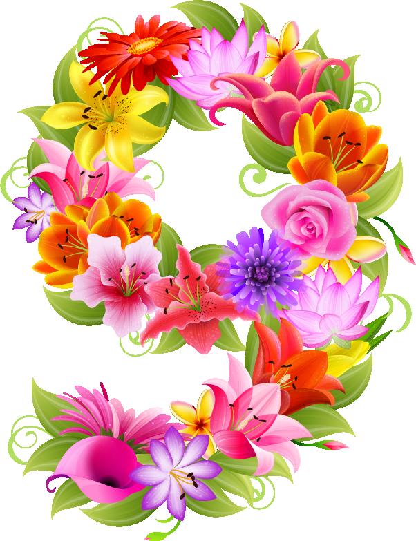 Alphabet flower clipart png transparent stock ZONA 10 PREESCOLAR CHIGNAHUAPAN: 0 al 9 primavera | Childs Birthday ... png transparent stock