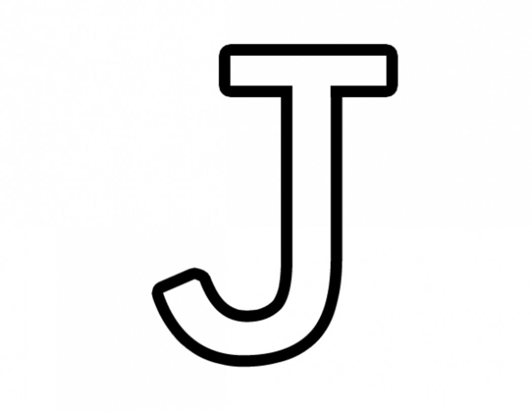 Alphabet flower clipart letter j black white. Free coloring page pages