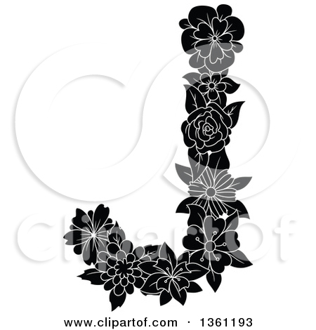 Alphabet flower clipart letter j black white clipart freeuse Alphabet flower clipart letter j black white - ClipartFest clipart freeuse