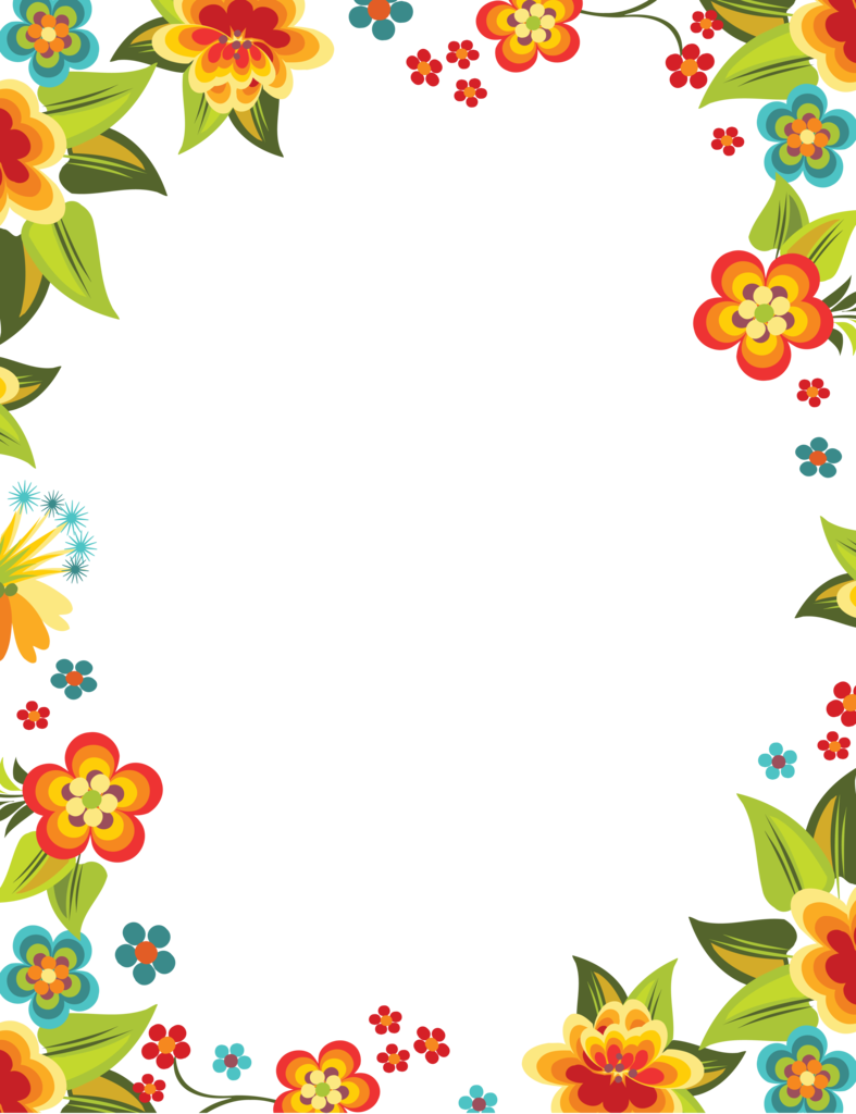 Alphabet frame clipart clip art download Flowers that blossomed