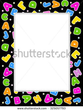 Alphabet frame clipart vector freeuse stock Alphabet Frame Vertical Multicolor Letter Border Stock ... vector freeuse stock