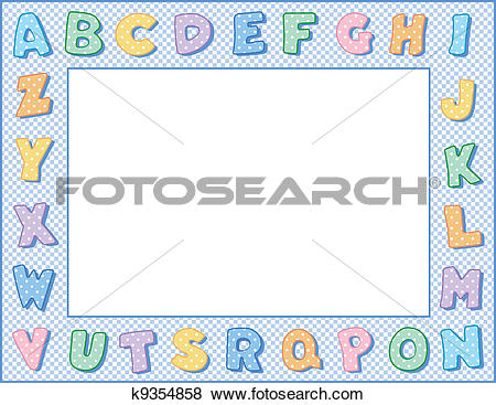 Alphabet frame clipart jpg free library Clip Art of Pastel Polka Dot Alphabet Frame k9354858 - Search ... jpg free library