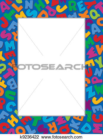 Alphabet frame clipart image free Clipart of Alphabet Frame, Blue Background k9236422 - Search Clip ... image free