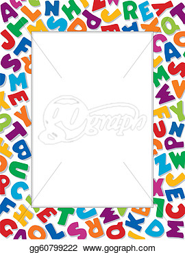 Alphabet frame clipart picture free stock Alphabet Border Clipart - Clipart Kid picture free stock