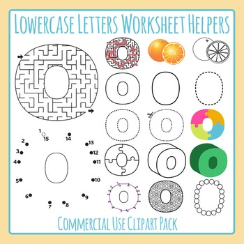 Alphabet helper clipart black and white library Lowercase Alphabet Worksheet Helper Clip Art Bundle: 459 IMAGES! Commercial  Use black and white library