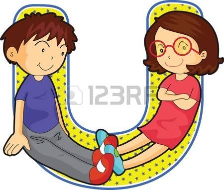 Alphabet kids clipart.  stock illustrations cliparts