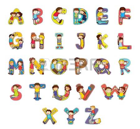 Alphabet kids clipart jpg library 24,520 Alphabet Kids Stock Illustrations, Cliparts And Royalty ... jpg library
