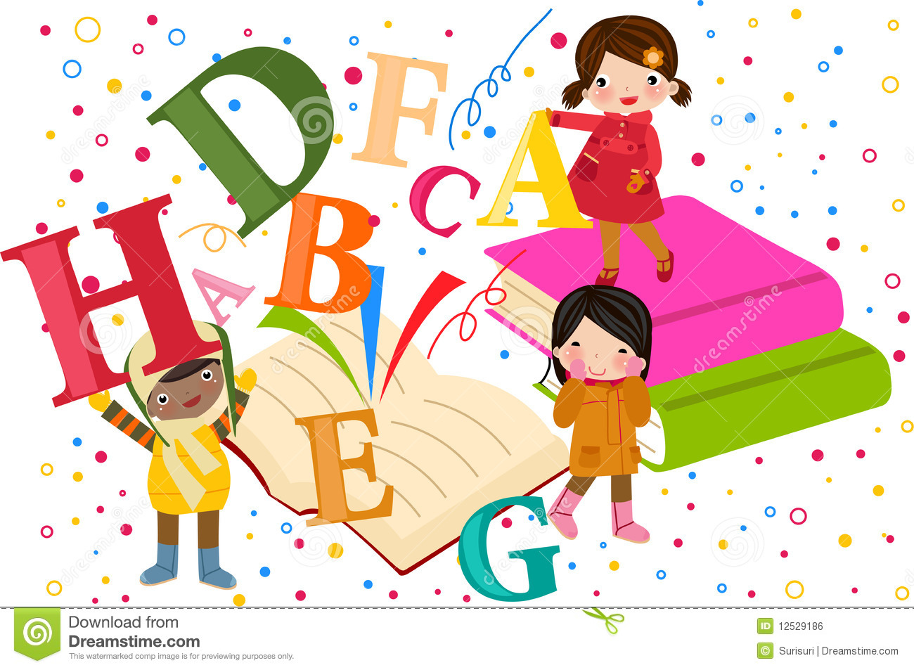 And royalty free stock. Alphabet kids clipart