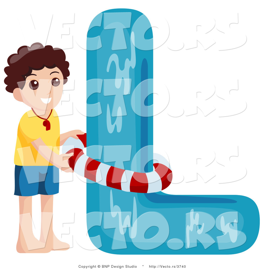 Alphabet l clipart clip art royalty free Vector of Alphabet Letter L with a Lifeguard Boy by BNP Design ... clip art royalty free