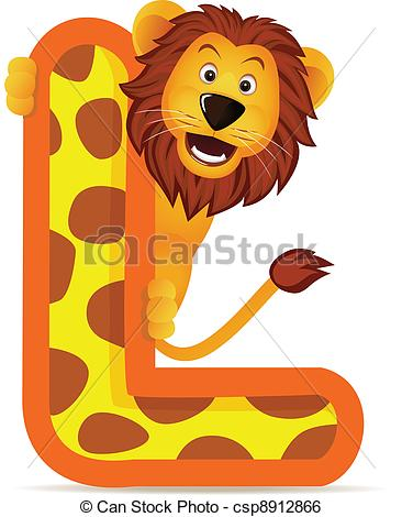 Alphabet l clipart jpg royalty free download Clip Art Vector of Lion with alphabet L csp8912866 - Search ... jpg royalty free download
