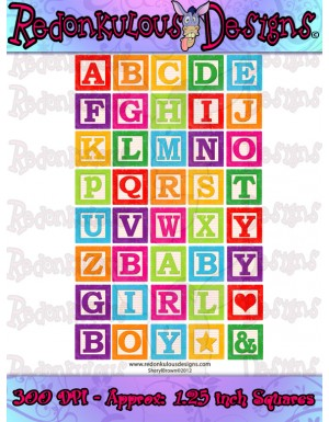 Building Blocks Alphabet - Clip Art image library download