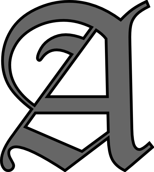 Alphabet letters clip art black and white image royalty free library Alphabet Letter A Clip Art at Clker.com - vector clip art online ... image royalty free library