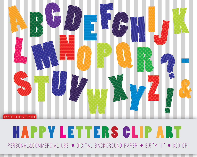 Abc letters kid clip. Alphabet letter clipart