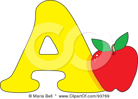 A alphabet letter apple clipart - ClipartFox graphic royalty free download