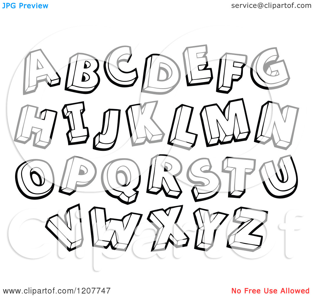 Alphabet letter clipart black and white - ClipartFest clip art freeuse download
