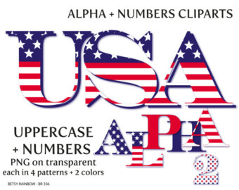 Alphabet letter clipart flags. Etsy usa letters and