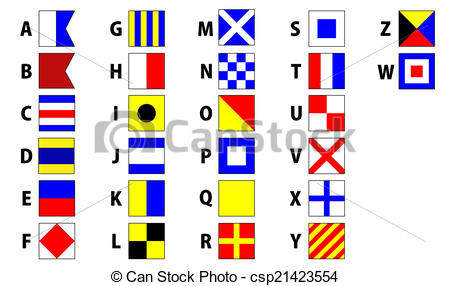 Alphabet letter clipart flags clipart library library Nautigal flags letter clipart - ClipartFest clipart library library