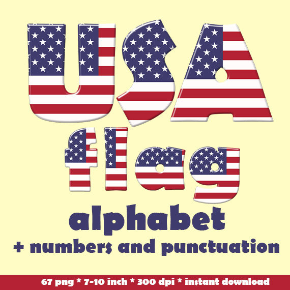 Alphabet letter clipart flags clip freeuse stock Large clipart american flag letters - ClipartFest clip freeuse stock