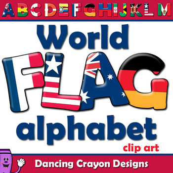 Alphabet letter clipart flags picture library Flags of the World: Alphabet Letters Clipart by Dancing Crayon ... picture library
