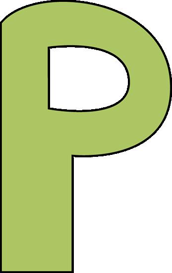 Alphabet letter p clipart